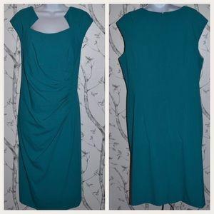 Calvin Klein Plus Turquoise Sleeveless Shift Dress